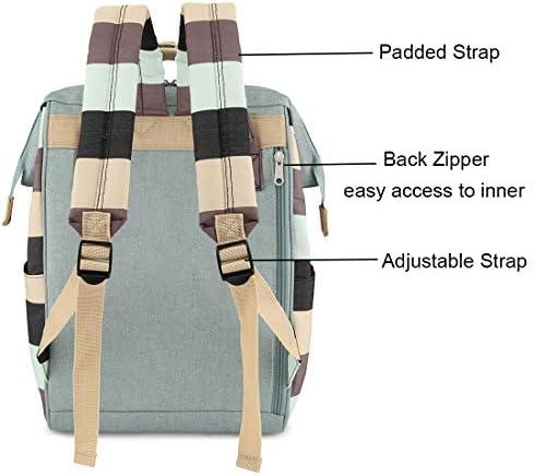 Himawari Travel School Backpack with USB Charging Port 15.6 Inch Doctor Work Bag for Women&Men College Students(L-USB TWL)
