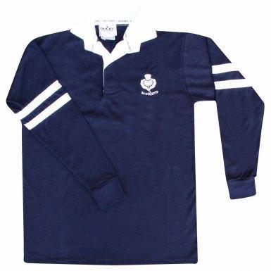 Adultos Escocia Retro Manga Larga Camiseta De Rugby, Unisex ...