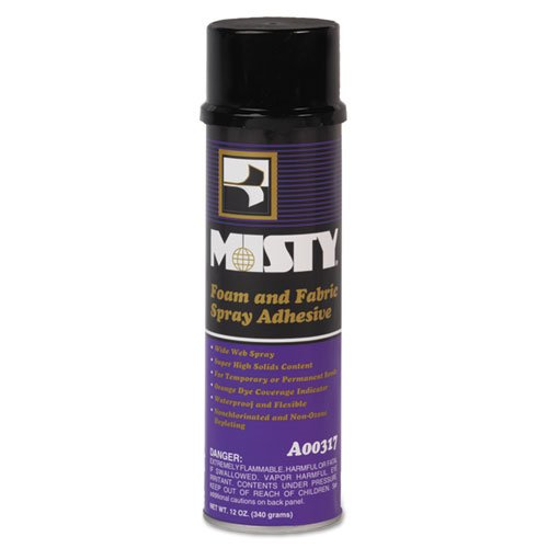 Misty Heavy Duty Adhesive Spray - Misty A00317 Foam and Fabric Spray Adhesive (Case of 12)