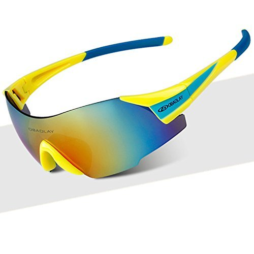 A-Royal Outdoor Fashion UV Protect Cycling Sport Windproof Goggles - Eyes Sunglasses Sensitive Very Dark