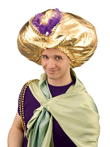 Forum Novelties Men's Giant Turban Costume Accessory, Gold, One Size -