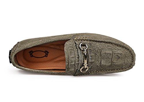 Studio de cuir de SK Chaussures pour Armée travail en décontractées hommes véritable Vert n8vZ6v