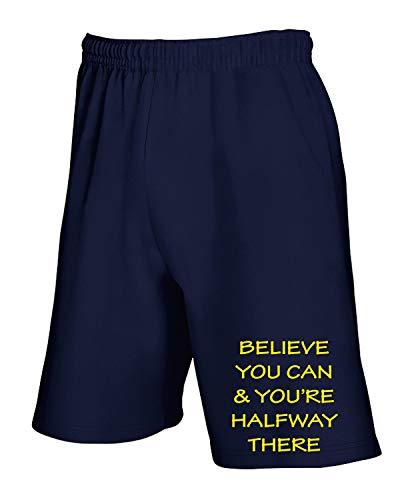shirtshock Blu Fun Navy T0512 Geek Believe Cool Pantaloncini Tuta T dFwxPT1d