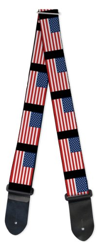 "Buckle-Down GS-W32103 ""United States Flags"" Guitar Strap"