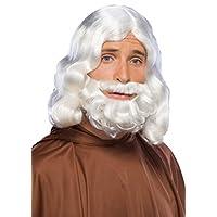 Conjunto de barba y peluca bíblicas de Rubie, blanco, talla única