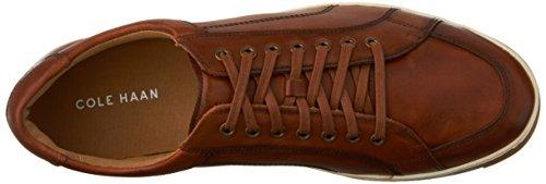 Cole Haan Mens Vartan Sport Oxford Canvas Sneaker Britannico Tan Antique