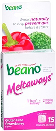 Beano Meltaways Strawberry 15 ea (Pack of 8) by Beano