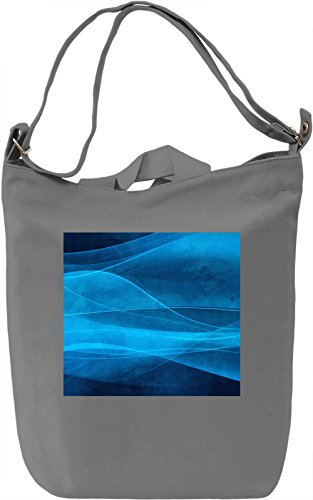 Blue Waves Full Print Borsa Giornaliera Canvas Canvas Day Bag| 100% Premium Cotton Canvas| DTG Printing|