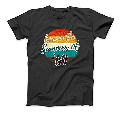 50th Birthday Summer of 69 T Shirt Gift Mom Dad Vintage Black