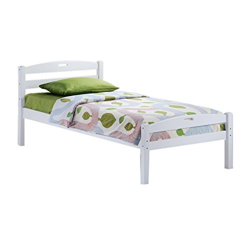 Night & Day Furniture Sesame Bed in White Finish, Twin by Night & Day Furniture