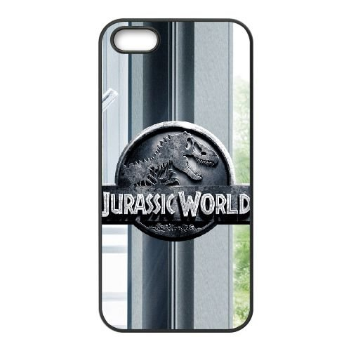 Jurassic World 3A coque iPhone 5 5S cellulaire cas coque de téléphone cas téléphone cellulaire noir couvercle EOKXLLNCD24982