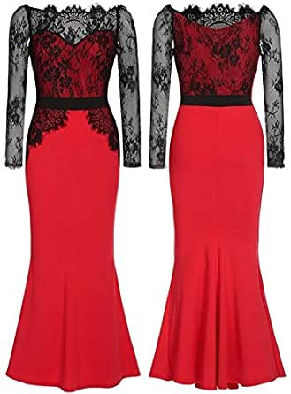 Maxi Dress For Women - Red