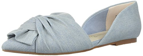 - BC Footwear Women's Snow Cone Ballet Flat, Light Blue Denim, 8 M US