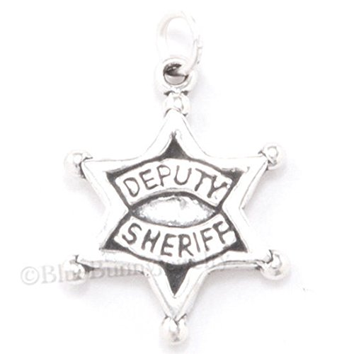 - DEPUTY SHERIFF Star Badge Police Officer .925 Charm Pendant 925 Sterling Silver Jewelry Making Supply Pendant Bracelet DIY Crafting by Wholesale Charms