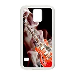 Samsung Galaxy S5 I9600 Cases Cell phone Case Flaming Guitar Mbtou Plastic Durable Cover