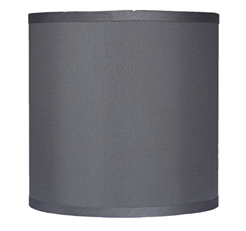 Urbanest Faux Silk Drum Lampshade, 10-inch By 10-inch By 10-