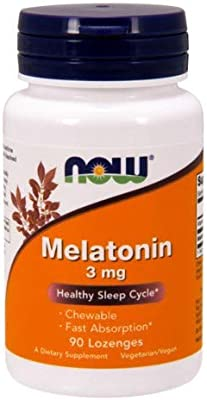 Melatonin 3 mg Chewable 90 Lozenges (Pack of 2)