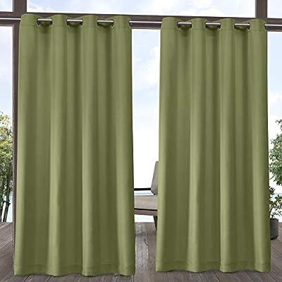 Exclusive Home - Par de Cortinas de poliéster, Color Verde Kiwi, 54 x 84 cm: Amazon.es: Hogar