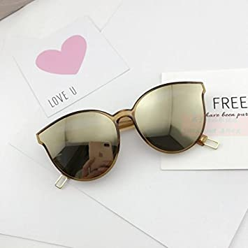 LXKMTYJ Die Blue Ocean stilvolle Sonnenbrillen Sonnenbrille weibliche Persönlichkeit tide Tide rundes Gesicht Sonnenbrille, Kim Reflektierende