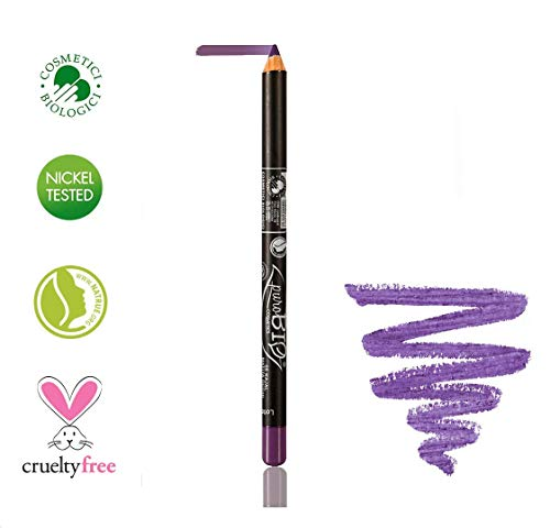 PuroBIO Certified Organic High-Pigmented Eyeliner Pencil - PURPLE 05 with Almond Oil, Sesame Oil, Vitamin E, Plant Derived Pigments and Waxes. ORGANIC.NICKEL TESTED.CRUELTY-FREE.MADE IN ITALY.