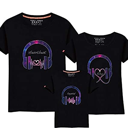 7e7eefd5d41d2 Father Mother Kid 2017 Family Matching Outfits Funny Music Design ...