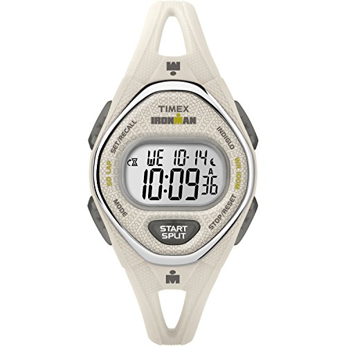 50 Lap Memory Stopwatch (Timex Women's TW5M10800 Ironman Sleek 50 White Silicone Strap Watch)