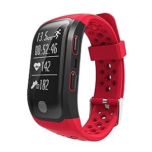 GPS Sports Watch Waterproof Fitness Tracker Heart Rate Monitor Bluetooth Smart Bracelet