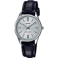 Relógio Feminino Casio Analógico LTP-V005L 7BU - Prata Couro