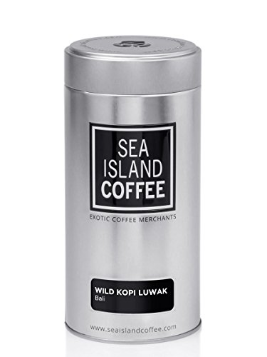 Wild Kopi Luwak, Bali - Whole Bean Coffee (8.8 Oz Tin) by Sea Island Coffee