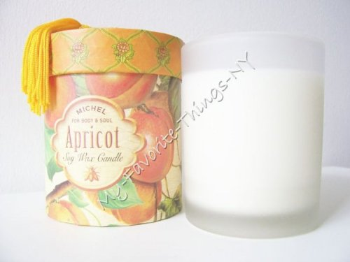 - Michel Apricot Soy Wax Candle