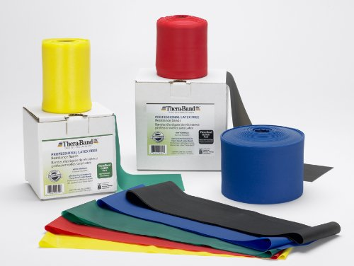 Thera-Band Latex-Free Exercise Band Combo Pack Size: Light