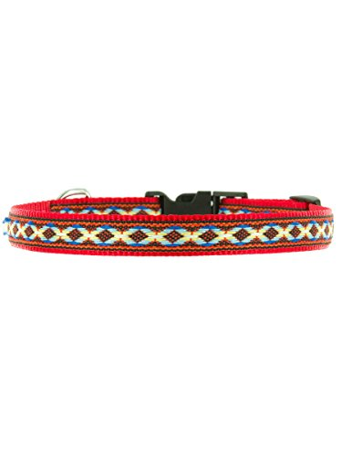 "Kakadu Pet Cheyenne Dog or Cat Collar, Small, 1/2"" x 16"", Red"