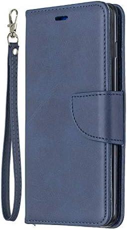 Docrax Handyhülle Lederhülle für Galaxy S10, Flip Case Schutzhülle Hülle mit Standfunktion Kartenfach Magnet Brieftasche für Samsung Galaxy S10 - DOBFE150233 Blau