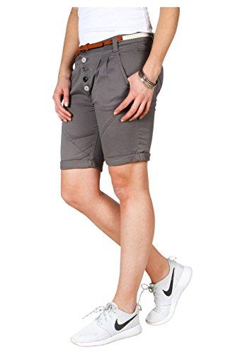 Sublevel Short chino pour dames avec ceinture | Bermuda | Short pour femmes dans des couleurs tendance
