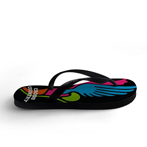 Country Flip Black Winged Flops and Foot Field Track Cross vwWRqOfXEa