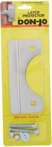 Don-Jo SLP-206 12 Gauge Steel Short Type Latch Protector, Chrome Plate, 2-5/8