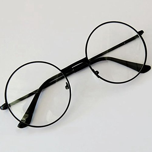 4f42d47f9b1 Forfar Fashion Unisex Retro Round Circle Metal Frame Eyeglasses Original  Clear Lens Eye Glasses 2 Styles for Men Women  Amazon.co.uk  Sports    Outdoors