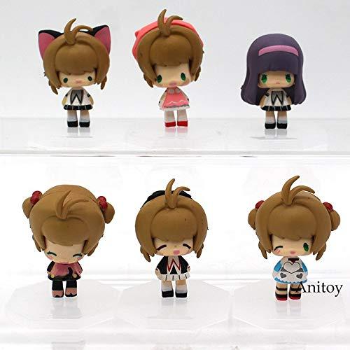6pcs/Set Cartoon Card Captor Sakura PVC Figure / 5cm (2.0 inch) -