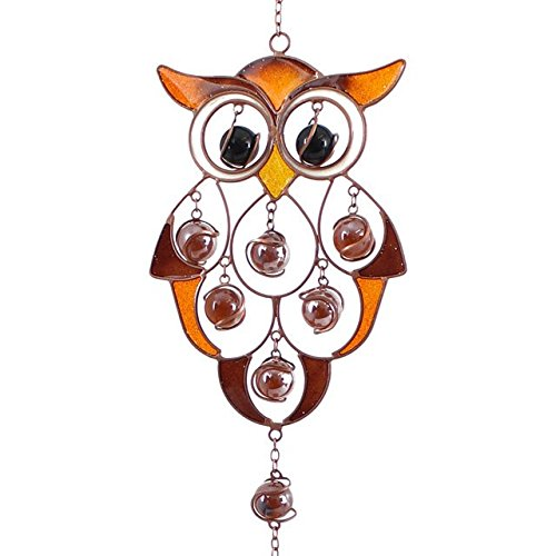 Jones Home And Gift Owl Wind Chime 80x11x4cm Multicolour
