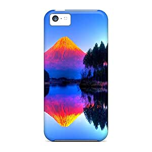 Shockproof/dirt-proof Colorful Mountain Lake Covers Cases For Iphone(5c)