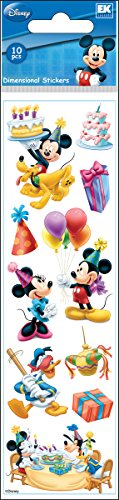 Disney Mickey Mouse Birthday Slims Dimensional Stickers (Dimensional Stickers Minnie Mouse)