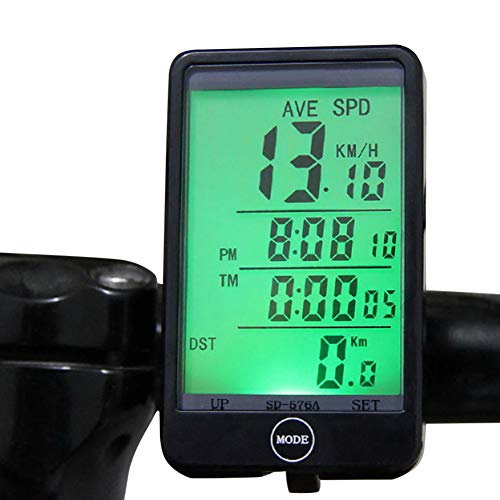 ExhilaraZ Sport Waterproof LCD Backlight Bike Computer Touch Cycling Wired Speedometer Odometer
