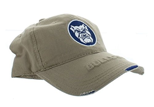 Bulldog Twill Hat - Rob'sTees Signatures Butler University Bulldogs Distressed Polo Style College Adjustable Dad Hat Cap