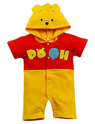 Es Unico Winnie The Pooh Bear Bodysuits for Boys, Cotton One Piece Romper Outfit Baby Infant. (6-9 Months) -