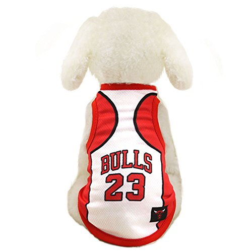 Dog Clothes NBA Basketball T-Shirt Dogs Costume Jersey for Cat Dog Pet Bulls -