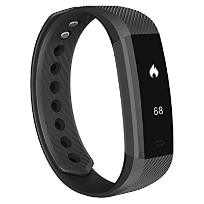 Fitness Tracker, 007plus D115 Concise Style Point Touch Activity Tracker