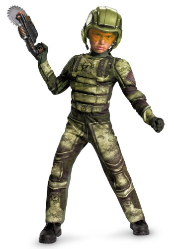 Operation Rapid Strike Red Sector Foot Soldier Classic Muscle Boys Costume, 4-6]()
