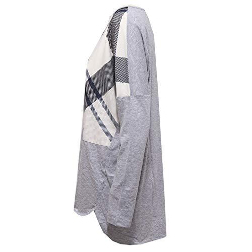 shirt Oversize Barbour Donna T bianco Woman Grey Maglia blu 5342x Grigio q4tO4Y