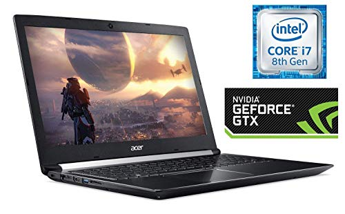 "Acer Aspire 7 Gaming Laptop, 15.6"" Full HD IPS Display, Intel 6-Core i7-8750H, 256GB SSD + 1TB Firecuda Gaming SSHD, 8GB DDR4, NVIDIA GeForce GTX 1050Ti 4GB, Backlit Keyboard, HDMI, USB C, Win 10"