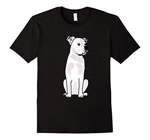 Men's Smiletodaytees Cool White American Bulldog T-shirt Medium Black